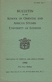 Bulletin of The School of Oriental and African Studies XXIX Part 2 (1966)