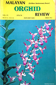 Malayan Orchid Review Vol 13 1976/78 - Orchid Society of Southeast Asia