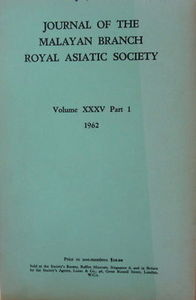 Journal Volume XXXV Part 1 1962 - Royal Asiatic Society