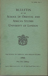 Bulletin of The School of Oriental and African Studies XXIX Part 3 (1966)