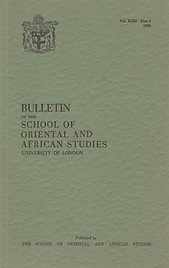 Bulletin of The School of Oriental and African Studies XLIII Part 2 (1980)