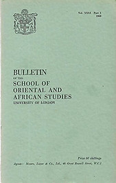 Bulletin of The School of Oriental and African Studies XXXI Part 1 (1968)