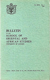 Bulletin of The School of Oriental and African Studies XXXII Part 3 (1969)