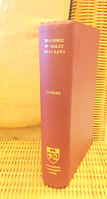Readings in Malay Adat Laws - MB Hooker