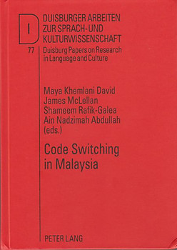 Code Switching in Malaysia - Maya Kemlani David & Others (eds)
