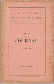 Journal of the Straits Branch of the Royal Asiatic Society No 48, June 1907