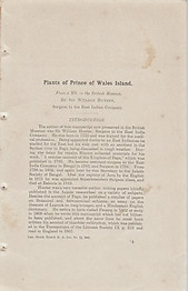 Plants of Prince of Wales Island - William Hunter