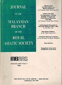 Journal of the Malaysian Branch of the Royal Asiatic Society LXIV Part 1, 1991