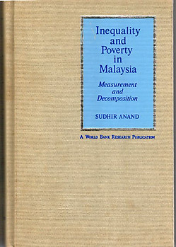 Inequality and Poverty in Malaysia: Measurement and Decomposition - Sudhir Anand