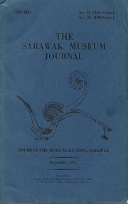 The Sarawak Museum Journal Vol. VIII No. 10 (New Series)(December 1957)