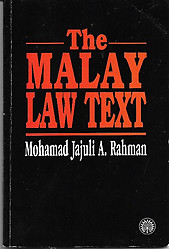 The Malay Law Text - Mohamad Jajuli A. Rahman
