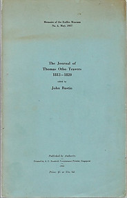 The Journal of Thomas Otho Travers, 1813-1820 - John Bastin (ed)