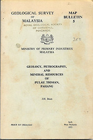 Geology, Petrology and Mineral Resources of Pulau Tioman, Pahang - JH Bean