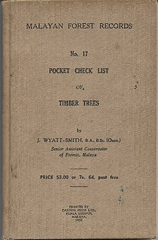 Pocket Check List of Timber Trees - J Wyatt-Smith