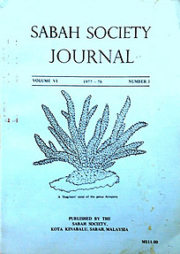 Sabah Society Journal Vol VI No 3 1977-78