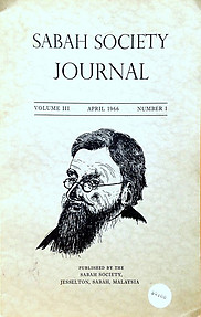 Sabah Society Journal Vol III No 1 April 1966