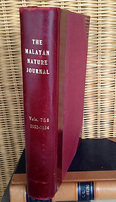 Malayan Nature Journal Vol VII. 1-5  (1952-53) & Vol VIII. 1-4 (1953-4) and Index Vols I-VII  - Malayan Nature Society