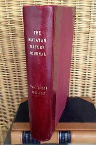 Malayan Nature Journal Vol XV 1-4  (1961) & Vol XVI. 1-4 (1962)  - Malayan Nature Society
