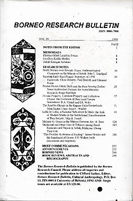 Borneo Research Bulletin Vol 29 1998 - Clifford Sather (ed)