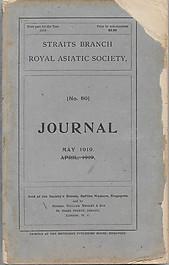 Journal of the Straits Branch of the Royal Asiatic Society No 80, May 1919