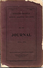 Journal of the Straits Branch of the Royal Asiatic Society No 73 July 1916