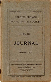 Journal of the Straits Branch of the Royal Asiatic Society No 77, December 1917